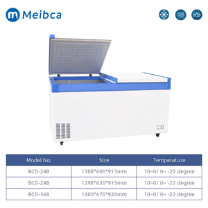 White Double Temperature Chest Freezer For Sale